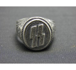 Waffen SS Elite Cyanide Hiding Silver Ring